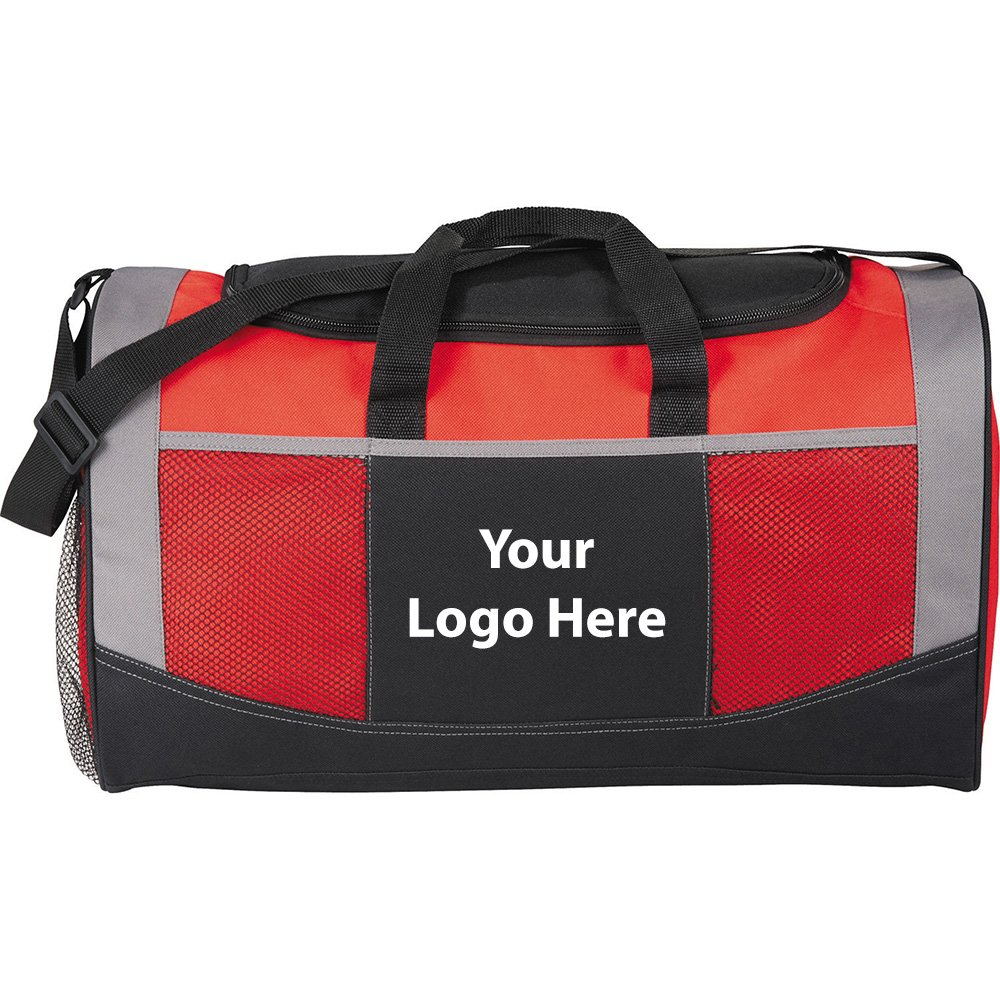 Iron Man Mesh Accent 19'' Duffel Bag - 50 Quantity - $9.20 Each - PROMOTIONAL PRODUCT / BULK / BRANDED with YOUR LOGO / CUSTOMIZED by Sunrise Identity