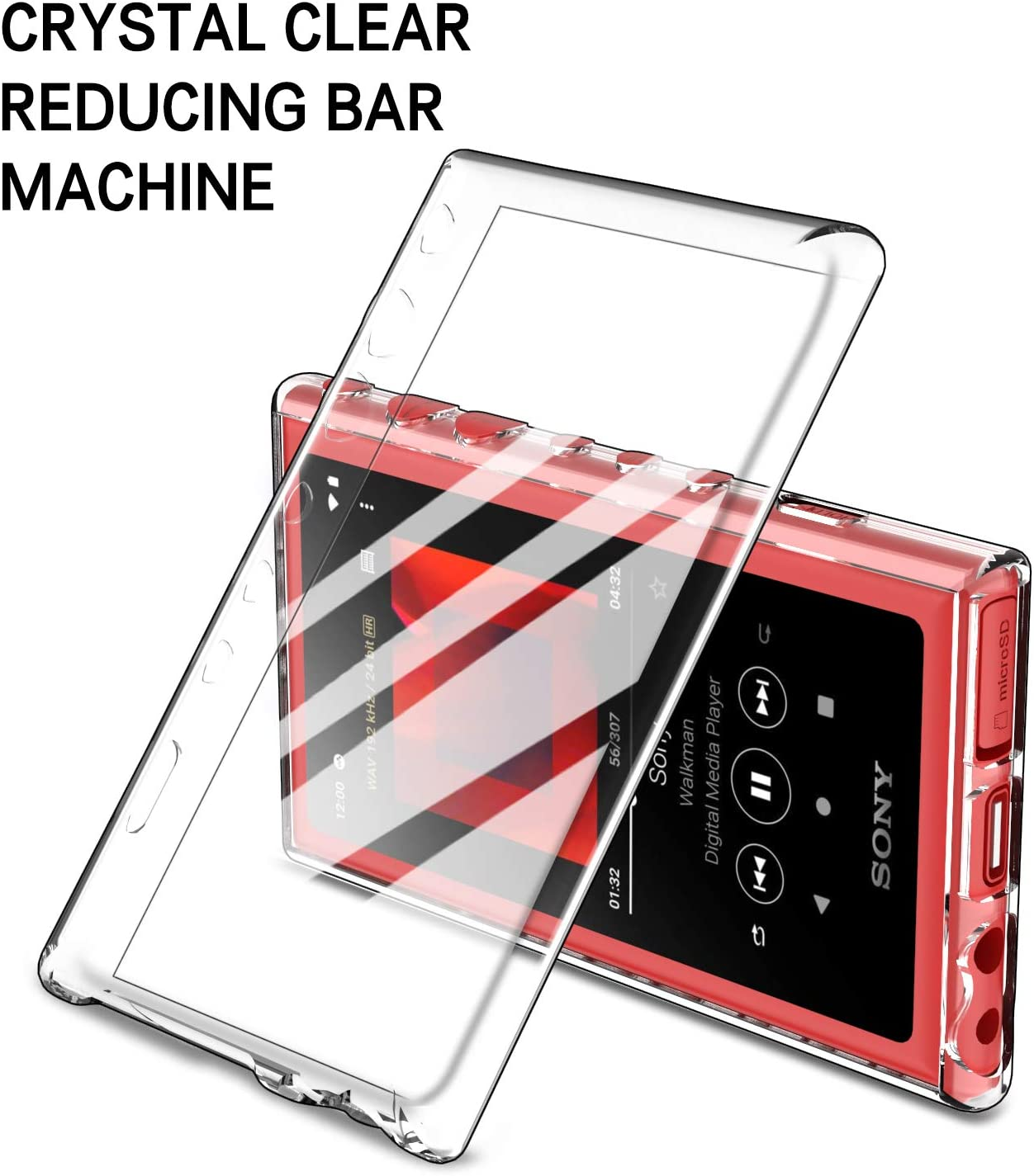 Clear IVSO TPU Coque Etui Housse pour Sony NW-A105 Walkman MP3 Player//NW-A100TPS Hi-Res Walkman