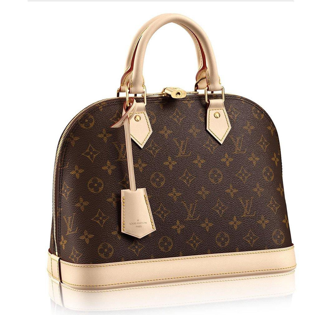 3f1a4455e30e Authentic Louis Vuitton Monogram Canvas Alma PM Tote Handbag Article M53151  Made in France  Handbags  Amazon.com