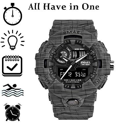 Hombres Relojes tácticos Deportes Hombre Reloj Digital Men XL: Amazon.es: Relojes