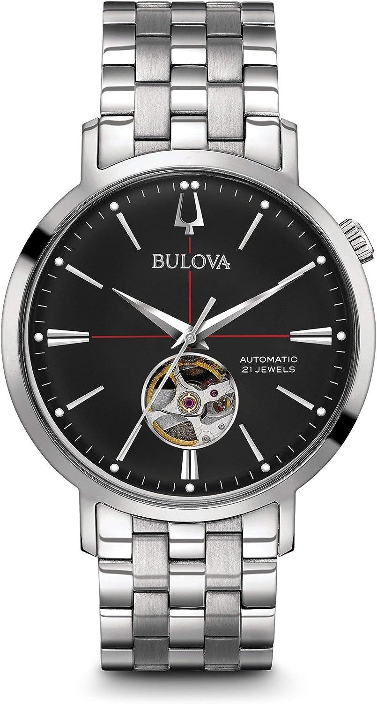 Bulova Reloj Analógico para Hombre de Automático con Correa en Acero Inoxidable 96A199
