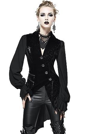 bbcabdb86ba97e Devil Fashion Gothic Damen Mode Schwarz Vintage Sexy Spitze Langarm Tops  Jacke Steampunk Frauen Elegante Cocktails