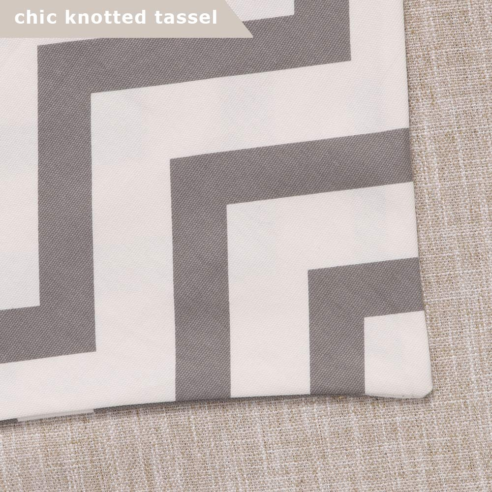 Uphome 1pc Classical Chevron Zig Zag Pattern Table Runner - Cotton Canvas Fabric Table Top Decoration, Grey and White by Uphome (Image #6)