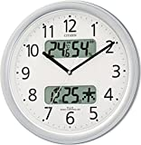 CITIZEN ( シチズン ) 電波 掛け時計 ネムリーナ カレンダー M01 シルバー メタリック 4FYA01-019