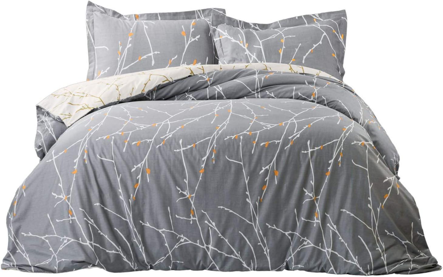 Amazon Com Bedsure 100 Cotton Duvet Cover Set Full Queen Size