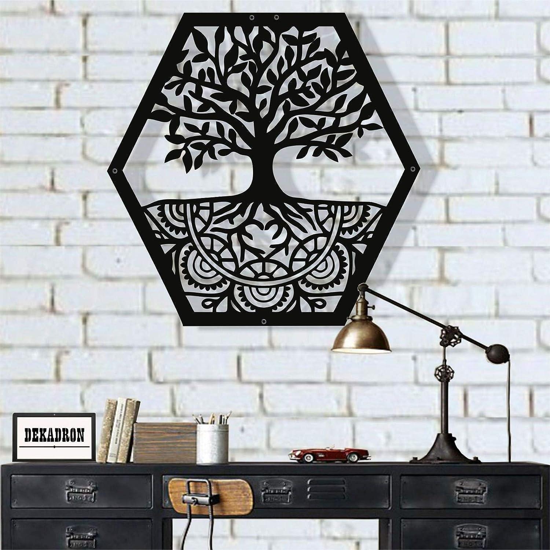 "Metal Wall Art, Tree of Life Wall Art, Metal Family Tree Sign, Metal Wall Decor, Interior Decoration, Family Decor, Tree Wall Art (28""W x 30""H / 71x76 cm)"