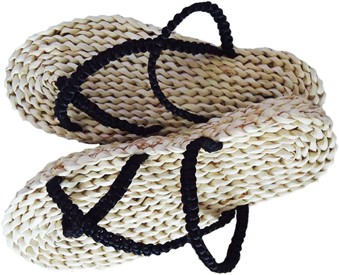 Flip Flops Beach Shoes Beach Sandals Straw Sandals Pompom Sandals