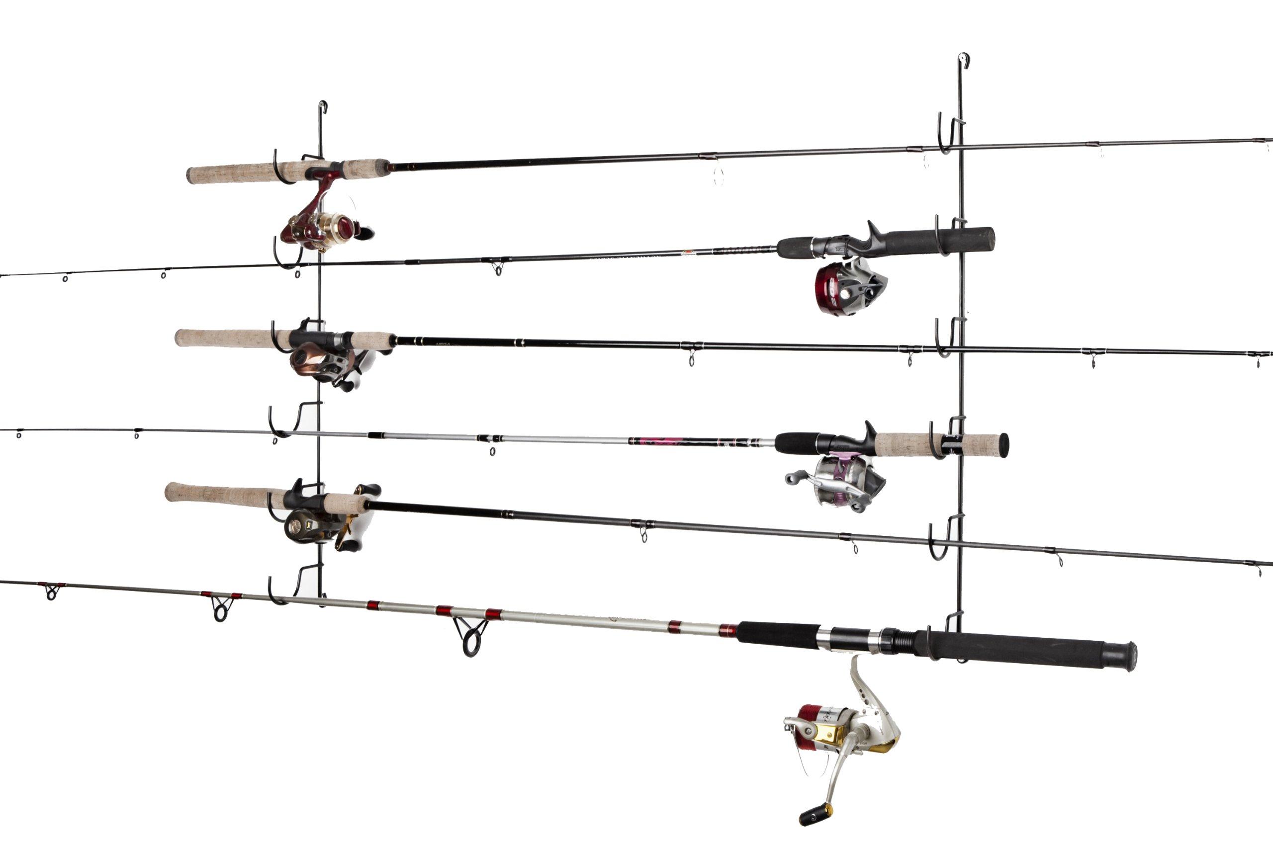 Rack'Em Horizontal 6-Rod Fishing Rod Rack