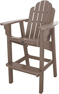 product image for Nags Head Hammocks Classic Bar Dining Chair, Weatherwood