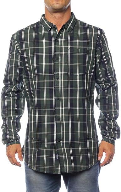 Tiffosi Almond Camisa Casual, Verde (Green), (Tamaño del Fabricante:S) para Hombre: Amazon.es: Ropa y accesorios