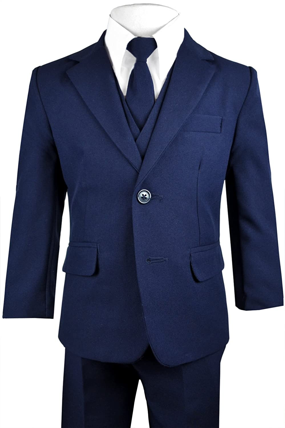 c5facf850568 Includes: Jacket, Shirt, Vest, Pants and Tie A suit jacket made of 100%  polyester material with two buttons in the front and a single vent in ...