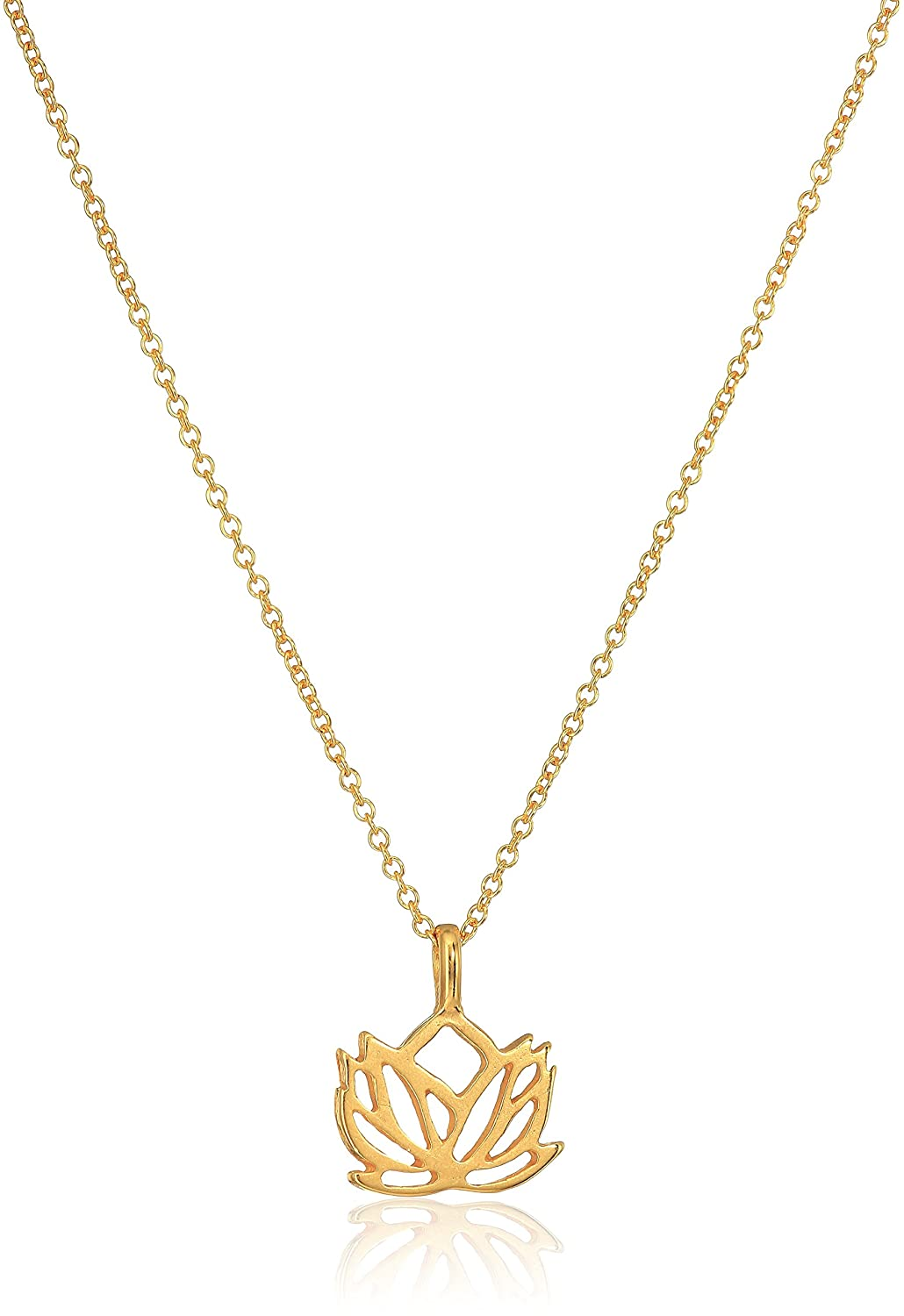 ... Dogeared New Beginnings Rising Lotus Gold Dipped 16 with 2 Extender Necklace Dogeared Jewels & Gifts ...