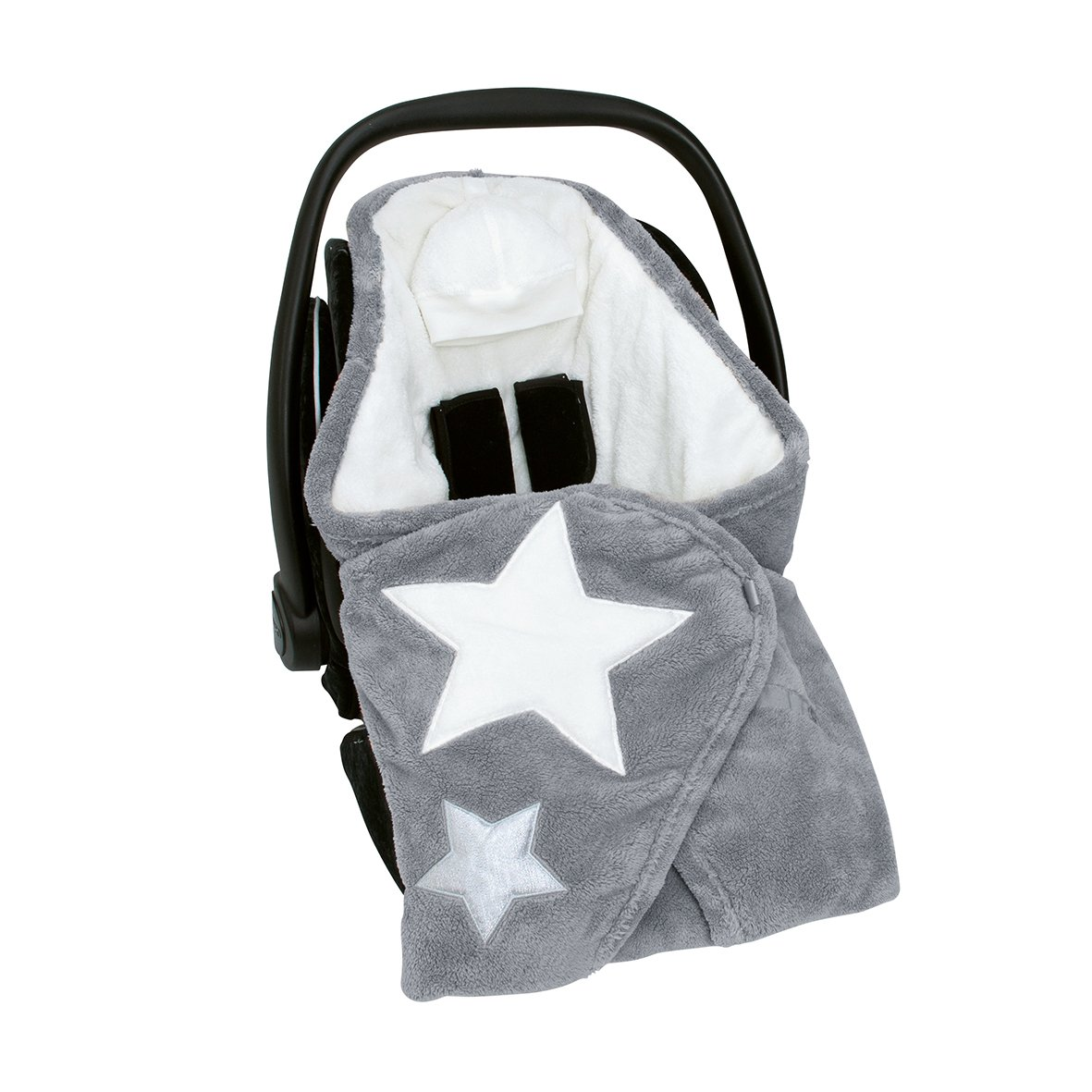Bemini by Baby Boum Couverture Biside Softy Stary 92 Grizou