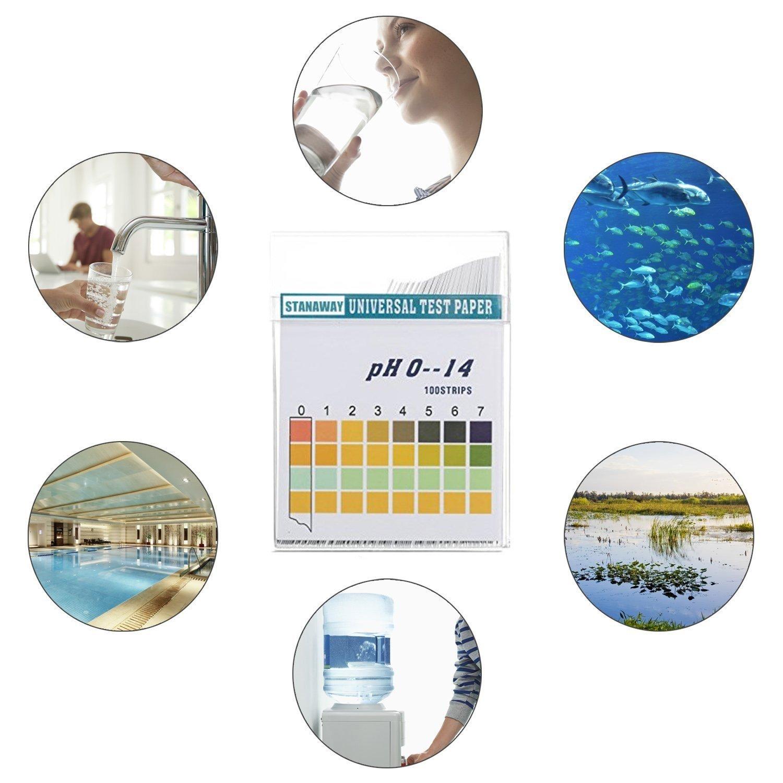 STANAWAY tiras de prueba de pH, Universal gama completa más ...
