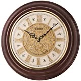 Seiko Wall Clock (32 cm x 32 cm x 5.8 cm, Brown, QXM342BN)