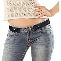 """VBIGER Cinturón Elástico Invisible sin Hebilla para Hombres Ancho 1.4"""" Se Ajusta a 23"""" -59"""""""