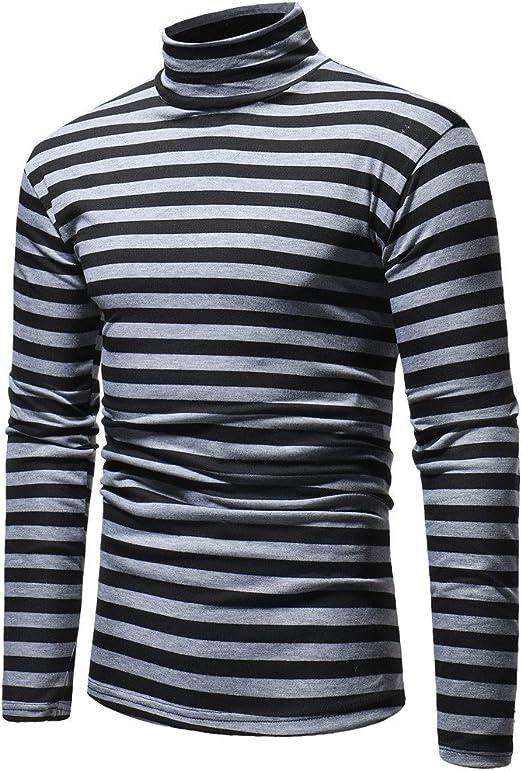 Men/'s Winter Elastic Slim Turtleneck T Shirt Blouse Pullover Long Sleeve Tops