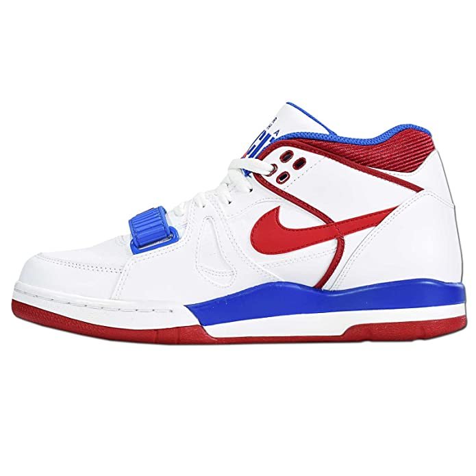 the best attitude 75406 39826 Nike Air Alpha Force II Charles Barkley Basketball Shoes Sneaker White red Blue  Current Model 2015, EU Shoe Size EUR 42  Amazon.ca  Shoes   Handbags