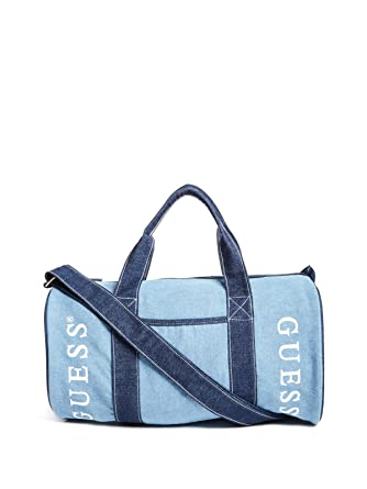 Amazon.com  GUESS Factory Women s Denim Logo Duffle Bag  Clothing cb32318d3e799