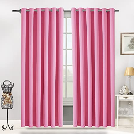 Blackout Ring Top Curtains by Moonlight Thermal Interwoven Pair ...