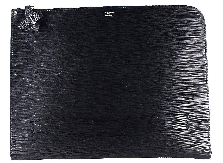 PELLE MORBIDA ペッレ モルビダ CAPITANO キャピターノ 型押しレザー クラッチバッグ PMO-CA204 (ブラック)[F×ブラック(C05)] B0775NX3Q9  F