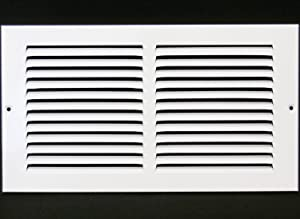"""16""""w X 4""""h Steel Return Air Grilles - Sidewall and Ceiling - HVAC Duct Cover - White [Outer Dimensions: 17.75""""w X 5.75""""h]"""
