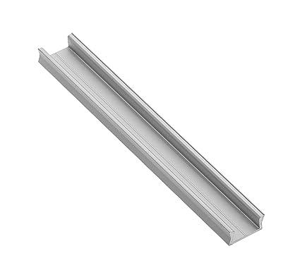 LineMini Aluminium LED-Profil mit Opal, matter lichtstreuender Kanal für 12 V 24 V 5050 5630 3528 Lichtstreifen Einfarbig RGB