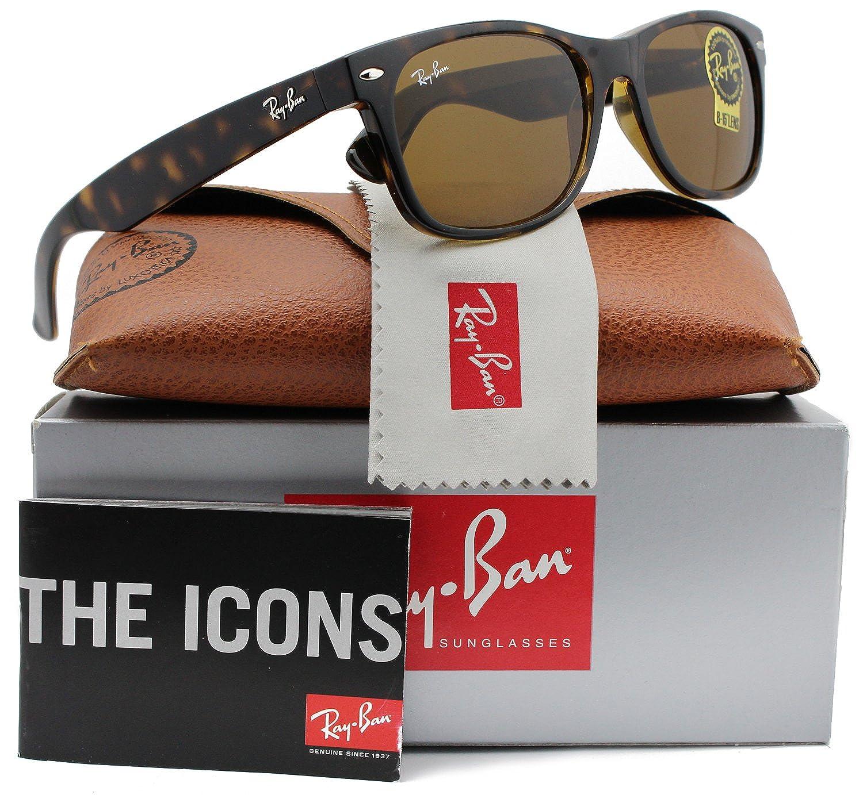 9c4b3e0d2b3a2 Amazon.com  Ray-Ban RB2132 710 New Wayfarer Sunglasses 55mm  Clothing