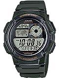 Casio AE-1000W-3AV Green Youth Series World Time Unisex Digital Sports Watch