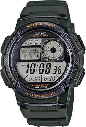 Casio Reloj con Movimiento Cuarzo japonés Man Ae-1000W-3A 40.0 mm