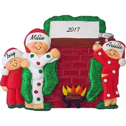 Amazon Com Hanging Stockings On Fireplace Mantle Personalized