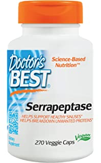 Doctors Best - Enzima alta de Serrapeptase de la potencia - 270 ...