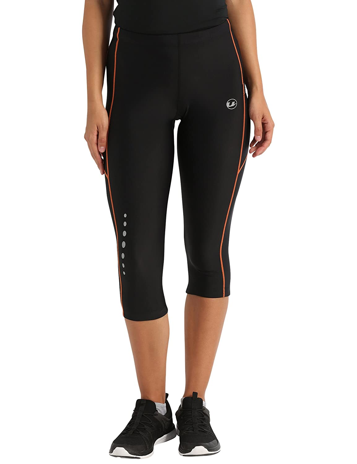 Ultrasport Women's Running Pants Capri with Compression Effect & Quick -Dry-Function