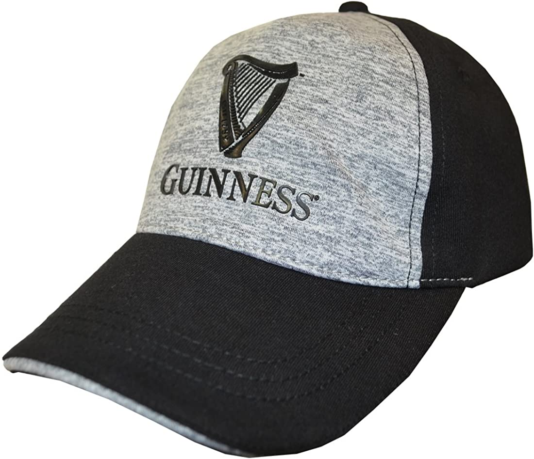 Guinness Black Harp Logo Grey Performance Baseball Cap