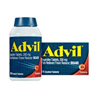 Advil, 200mg Ibuprofen, Pain Reliever/Fever Reducer, Home & Away Pack Temporary...