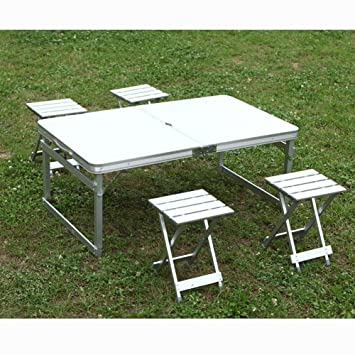 MIAO Exterior portátil simple de aleación de aluminio picnic ...