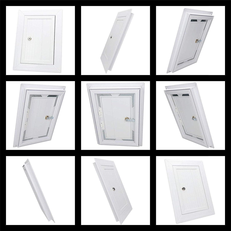 400x400mm Blanc PVC Couvercle Chambre Dinspection Panneau Acc/ès Serrure Cl/é