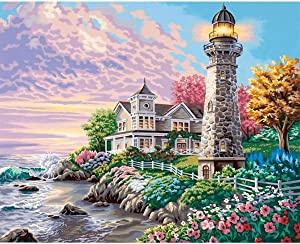 Artoree DIY 5D Diamond Painting by Number Kit for Adult, Full Drill Diamond Embroidery Kit Home Wall Decor-20x14