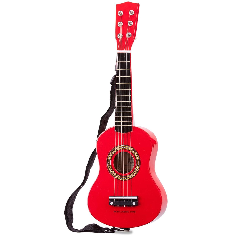 Unbekannt Mein erstes Instrument für Kinder ab 3 Jahren rote Gitarre aus hochwertigem Holz • Spielzeuggitarre Musik Ukulele Spielzeug Siehe Beschreibung