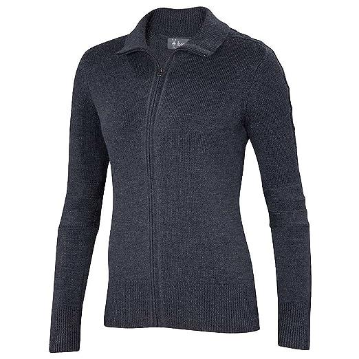 e1cbbf53933 Amazon.com: Ibex Chroma Full Zip Sweater - Women's Pewter Heather XS:  Clothing