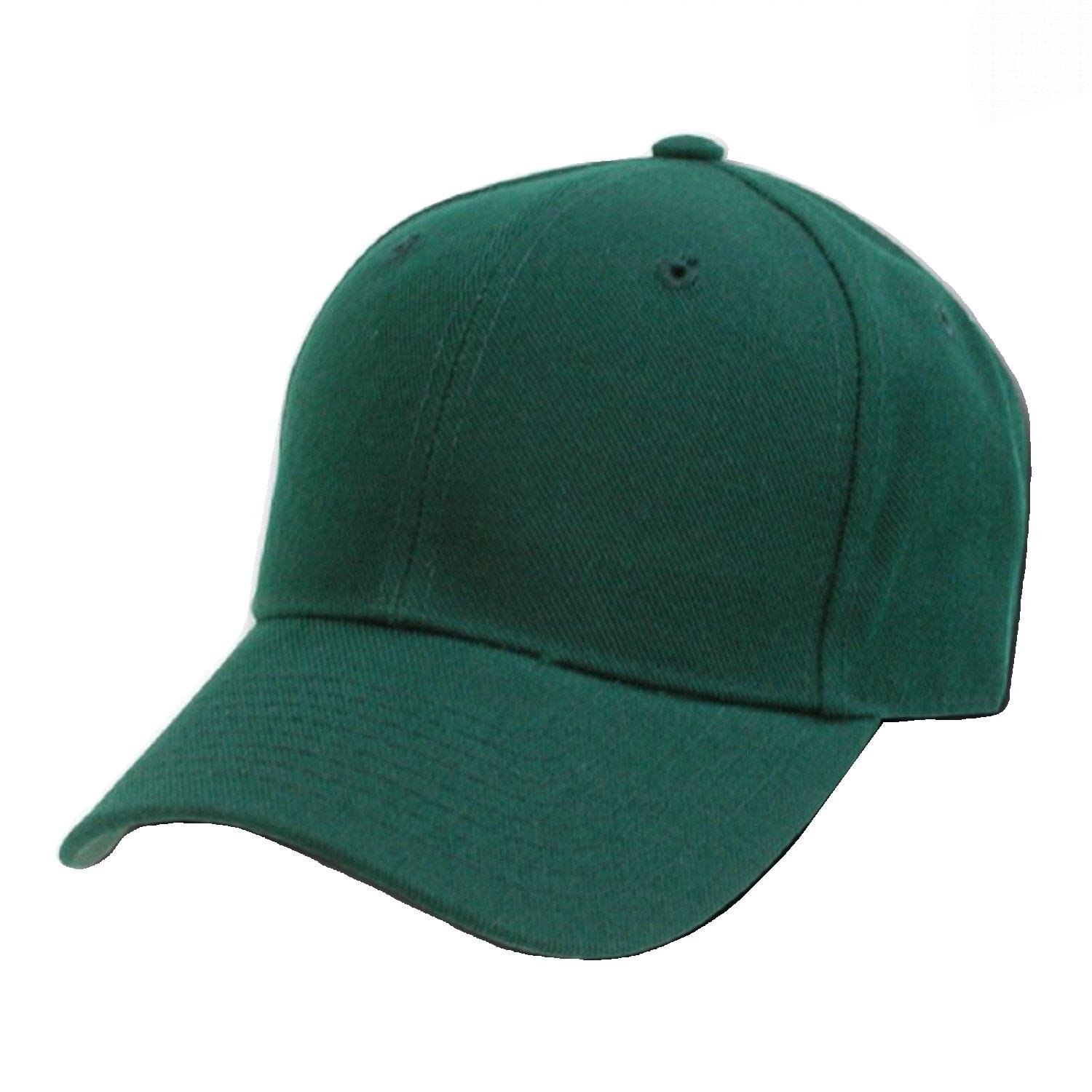 Decky Plain Solid Fitted Baseball Cap Forest Green (Size 7 1/8) by DECKY