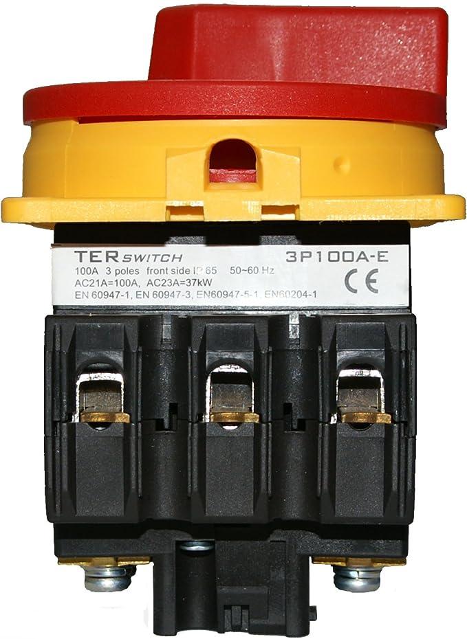 Hauptschalter Leistungsschalter 80a Ip 65 Frontseitig 3 Polig Einbauversion Frontbefestigung In Kompakter Größe Beleuchtung