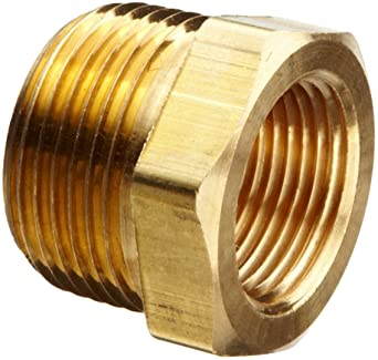 """3//4/"""" MPT TO 1//4/"""" FPT BUSHING PIPE THREAD PROPANE NATURAL GAS FITTING HEX REDUCER"""