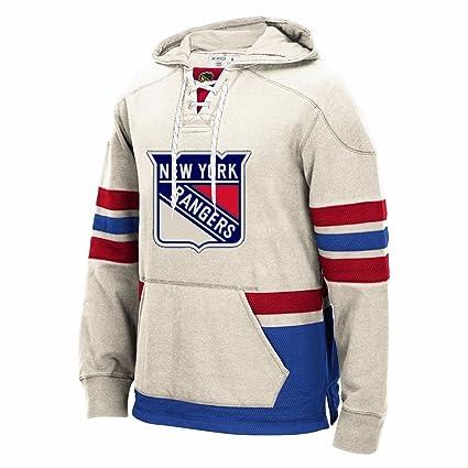 Amazon.com   CCM New York Rangers Retro Lace Em Up Pullover NHL Team ... a1130702f