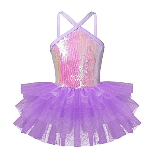 53d84dadb Amazon.com  iiniim Kids Girls  Sequined Camisole Ballet Tutu Dress ...