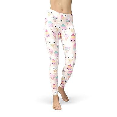 50729bed4f66b Kawaii Icecream Fleece Leggings XS-3XL at Amazon Women's Clothing store: