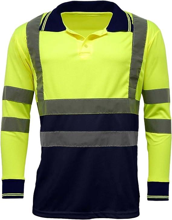 MyShoeStore Hi Viz Vis Alta Visibilidad Polo Camisa Reflectante ...