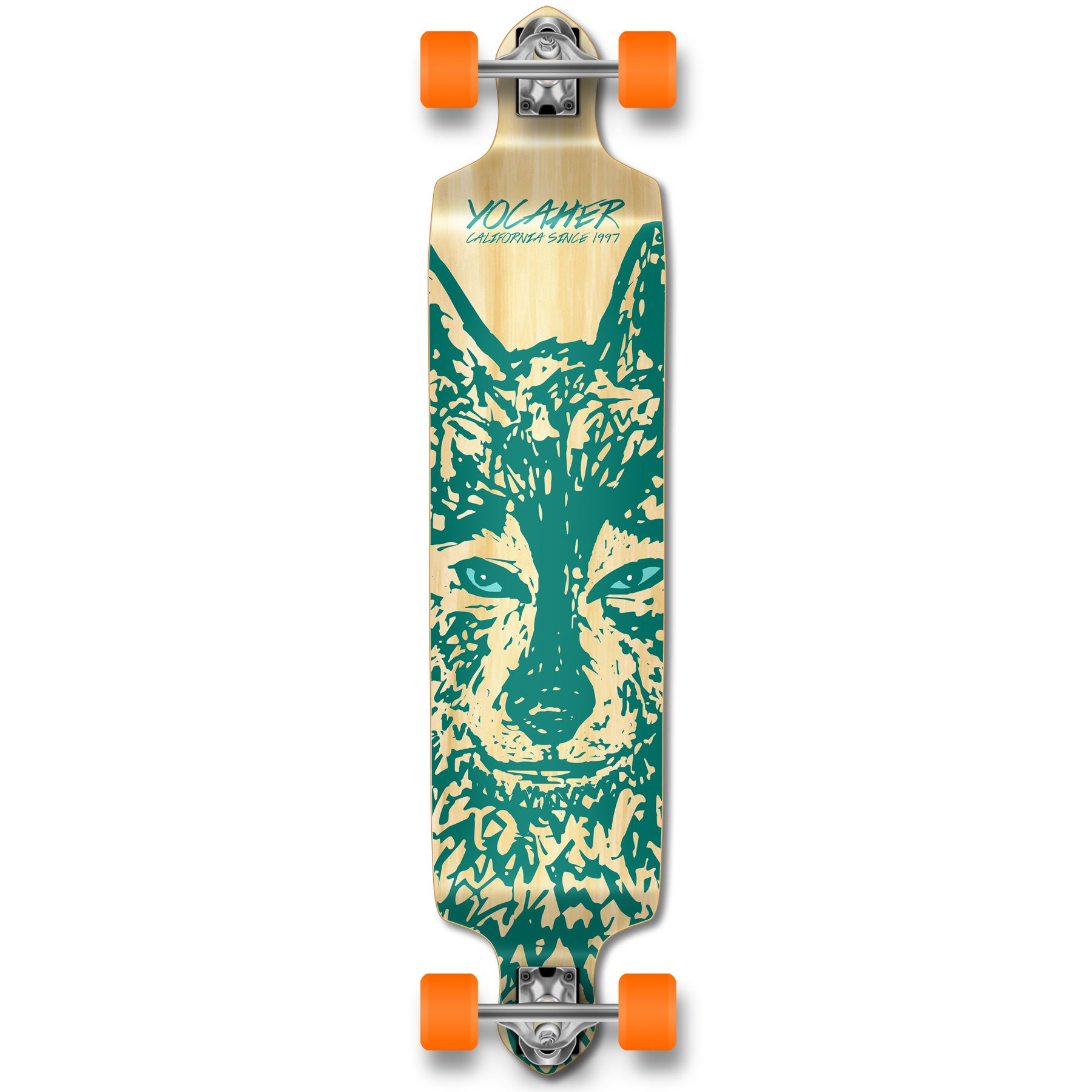 Yocaher Spirit Wolf Longboard Complete Skateboard Cruiser - Available in All Shapes (Drop Down)