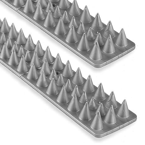 Pájaros palomas Gatos pinchos para vallas y muros | gris – 10 Unidades