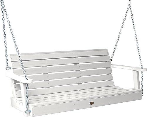 Highwood AD-PORW1-WHE Weatherly Porch Swing